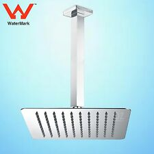 """WELS 8/10/12"""" Square Thin Rainfall Shower Head 300 Ceiling Roof Arm Dropper Set"""