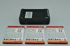 Samsung Galaxy S2/SII Batteries x 1 2 3 or Charger for 9100GT-i9100 EB-F1A2GBU