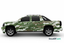 Camouflage Camo Military Printed Graphic Vinyl Car Wrap Decal Sticker Army 3M
