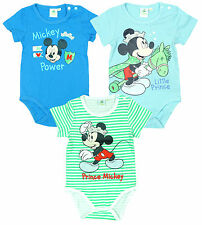 Boys Baby Toddler Disney Prince Mickey Mouse Bodysuit Romper 3 to 24 Months