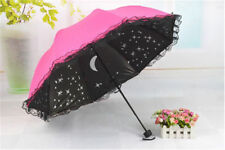 Starry Sky Windproof Anti UV Sun/Rain Princess Lace Umbrella Folding Parasol