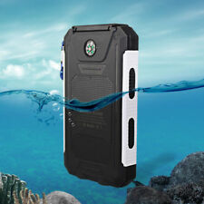 Waterproof 50000mAh 2USB Solar Power Bank Backup Battery Charger For Smartphone