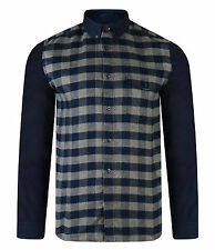 French Connection New Men's Long Sleeve Pop Flannel Cotton Check Shirt Regular