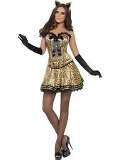 Adult Sexy Fever Boutique Kitty Cat Ladies Halloween Party Fancy Dress Costume