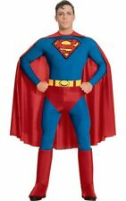 SALE Adult Licensed Movie Classic Superman Mens Fancy Dress Costume Party Outfit