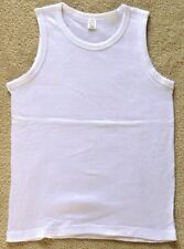 Boys or Girls White 100% Cotton Ribbed Vests, sizes 1-12 years - New Child Kids