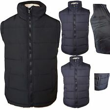 Mens Quilted Padded Lined Gilet Gillet Body Warmer Sleeveless Coat Jacket