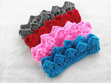 Hair Accessories Newborn Knit Crochet Prince Crown Headband Baby Boy Girl Hat