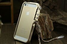 Aluminum Bumper Cases Tactical Edition for iPhone 4 4S 5 5S 6 6s 7 plus Lanyard