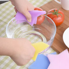Pentacle Silicone Dish Scrubber Brush Fruit Vegetable Washing Kitchen Clean Tool