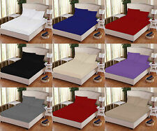 100% Pure Egyption T 200 Percale Extra Deep Elasticated Fitted Bedsheet All Size