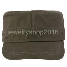 Cotton Twill Crops Hat Flat Top Cap Sun Sports Baseball Casquette Cap for Unisex