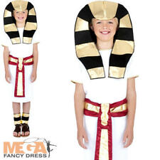Egyptian Pharoah Boys Fancy Dress Ancient Emperor Childrens Kids Costume Outfit