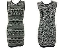 1s Womens Ladies Fine Knit Aztec Zebra Print  Sleeveless Bodycon Midi Dress
