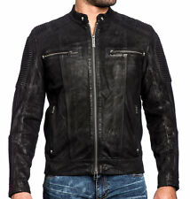 Affliction Black Premium - FURY ROAD - Men's Leather Biker Jacket - Moto - Black