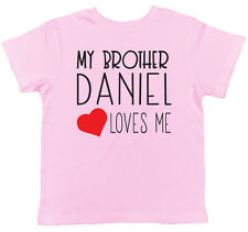 Personalised My Brother Any Name Loves Me Short Sleeve T-Shirt