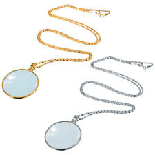 Useful Monocle Lens Necklace With 6x Magnifier Coin Magnifying Glass Pendant Hot