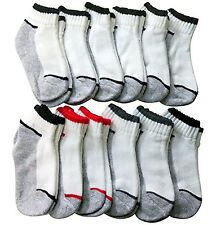 12 Pairs of Excell Boys No Show Socks, Ankle Socks Boys, Cotton Socks for Boys