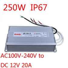 250W AC100V-240V Waterproof Metal Shell LED Power Supply Transformer Driver