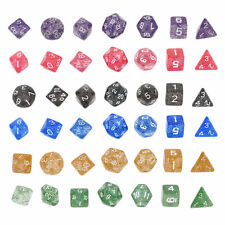 Shimmering Serial Bright Color 7 Pcs Set Creative Multi-Faceted Acrylic Dice EP