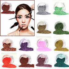 Multi Color Glitter UV Gel Acrylic Powder Decoration for Nail Art Tips Pink Hot