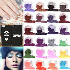 Multi Color 3D Glitter Powder Dust Decoration UV Acrylic Nail Art Pearl Tips