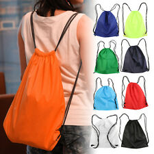 Premium School Drawstring Duffle Bag Sport Gym Swim Dance Shoe Backpack FG