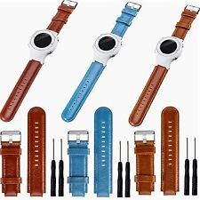 for Garmin Vivoactive Approach S2 S4 GPS Watch Genuine Leather Band Wrist Strap