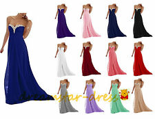 STOCK Long Formal Bridesmaid Dresses Evening Party Prom Club Wedding Ball Gowns