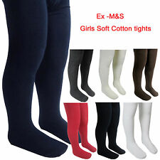 Ex M&S Girls School Tights Soft Cotton Rich Marks and Spencer School Tights