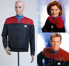 Star Trek Voyager Command Uniform Red Jacket Costume Cosplay Halloween Party