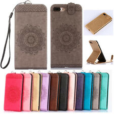 Fashion Pattern PU Leather Flip stand Case Phone Cover For Various iPhone Mobile