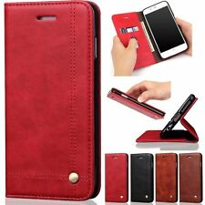 Leather Magnetic Flip Wallet Cards Holder Stand Case Cover For iPhone 7 7 Plus