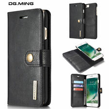 For iPhone 7/7 Plus Removable Magnetic Flip Cover Wallet Card Leather Skins Case