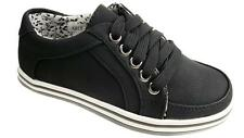 LEE COOPER LADIES CASUAL  LACE UP TRAINERS PLIMSOLES BROWN/BLACK SIZE UK  NEW