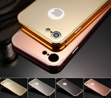 Luxury Mirror Back Cover Skin Metal Aluminum Frame Case For iPhone 7/ 7 Plus