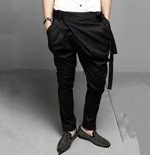 Korean New Men's casual Middle-Rise Harem Loose Style Dance Pants Trousers