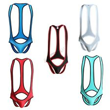 Men Open Butts Brief Jockstrap Mankini Gay Bodysuit Underwear Wrestling Singlet