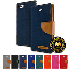 GOOSPERY® Canvas Diary Media Flip Stand Wallet Case Cover For Apple iPhone 5 SE