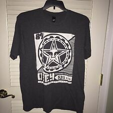 MENS OBEY PROPAGANDA T-SHIRT STAR Heather Gray Streetwear Hip Hop HIPSTER Large