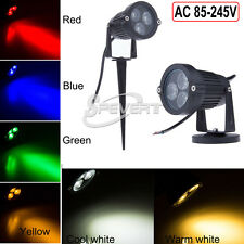 9W IP65 Outdoor LED Landscape Garden Yard Path Flood Spot Light Lamp +Base/Pin
