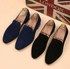 New Men's suede Leather Shoes Casual Formal Dress Slip On Pointed Loafer