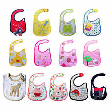 Baby Infant Boy Girl Waterproof Cute Multi Cartoon Patterns Bibs  For Feeding F5