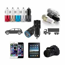 2-Port Mini Universal Dual USB Car Charger Adapter Bullet 5V 2.1A+1A For iPhone