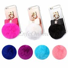 Apple iPhone 6S Plus@Trendy Soft TPU Gel Plush Fur Ball Fashion Skin Case Cover
