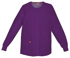 Scrubs Dickies Snap Front Warm-Up Jacket 86306 EGWZ Eggplant Free Shipping