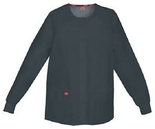 Scrubs Dickies Snap Front Warm-Up Jacket 86306 PTWZ Pewter Free Shipping