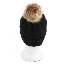 2Pcs Mom And Baby Hats Fashion Winter Crochet Knitted Keep Warm Beanie Cap F5