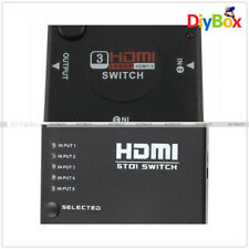 3/5Port 1080P Video HDMI Switch Switcher Splitter for HDTV DVD PS3 IR Remote