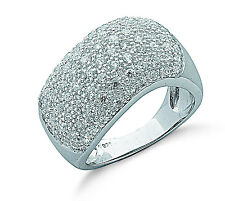 Wide Band Ring Dome Ring Sterling Silver Dome Ring Rhodium Plated